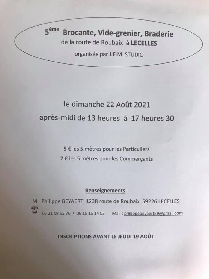 IMAGE BROCANTE 22/08/2021
