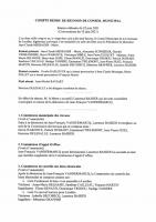 Compte rendu Conseil municipal 22/06/2021
