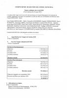Compte rendu Conseil municipal du 06/04/2021