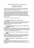 Conseil municipal du 9/02/2021