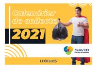 Calendrier 2021 déchets ménagers LECELLES