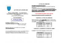 FICHE INFORMATIONS CENTRE DE LOISIRS 2021