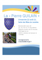 AFFICHE La Pierre GUILAIN LECELLES 22 AOUT 21